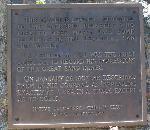 Near the beginning of the hike is a marker dedicated to Zebulon Pike,